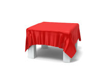 Desk covered by cloth Stock Image