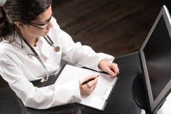 Desk del doctor Fotografía de archivo libre de regalías