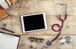 Desk of doctor Stock Image