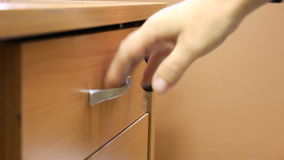 Desk drawer with a lock