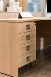 Desk with drawers Stock Images
