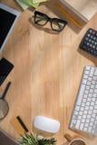 Desk of entrepreneur Stock Images