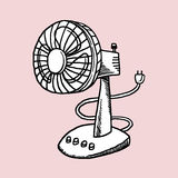Desk Fan. This is line art, Created form my hand drawn Stock Photo