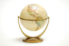 Desk Globe. Isolated desk globe on white Royalty Free Stock Photography