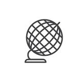 Desk Globe line icon, outline vector sign, linear style pictogram isolated on white. Royalty Free Stock Photos
