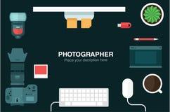Desk header Stock Photography