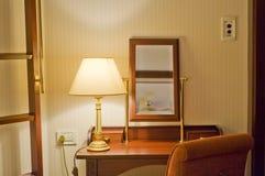 Desk in hotel room Stock Photo