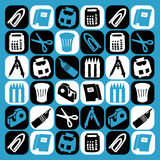 Desk icons royalty free stock photography