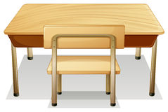 Desk. Illustration of a desk and a chair stock illustration