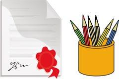 Desk items Stock Image