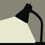 Desk Lamp. Vector illustration of a desk lamp Stock Photo
