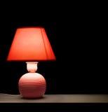 Desk lamp. On a black background Stock Photo