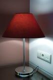 Desk Lamp. Beautiful Desk Lamp in Bedroom Stock Photo