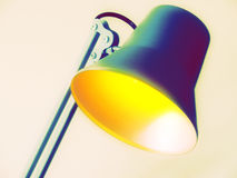 Desk lamp. Color adjustments applied on it Stock Photo