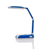 Desk lamp. Blue desk lamp isolated on white background Royalty Free Stock Image