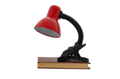 Desk lamp and book Stock Image