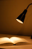 Desk lamp and books Stock Photos