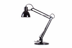 Desk lamp isolated. Black desk lamp isolated on white Stock Image