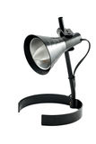Desk lamp isolated. Black desk lamp isolated on white Stock Photo