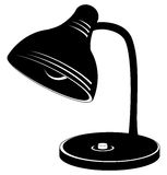 Desk lamp, silhouette Royalty Free Stock Photography
