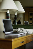 Desk with laptop Royalty Free Stock Photos