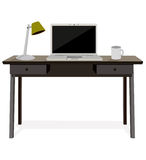 Desk with laptop Royalty Free Stock Images