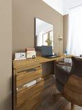 Desk in a modern bedroom. Stock Photos