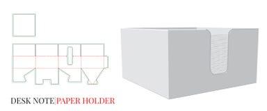 Paper Holder Template with die cut / laser cut lines. Desk note holder royalty free illustration