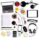 Desk objects top view Royalty Free Stock Photography