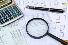 Desk office business financial accounting. Calculate Royalty Free Stock Photo