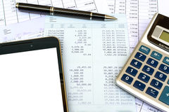 Desk office business financial accounting Stock Images