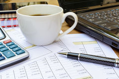 Desk office business financial accounting Stock Photos