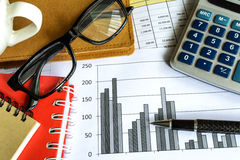 Desk office business financial accounting Royalty Free Stock Images