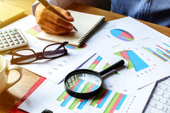 Desk office business financial accounting calculate Royalty Free Stock Photos