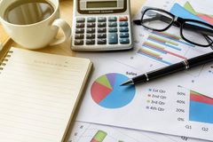 Desk office business financial accounting calculate Royalty Free Stock Images