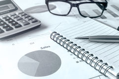 Desk office business financial accounting calculate Royalty Free Stock Photography