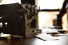 Desk in a old military office Royalty Free Stock Photo