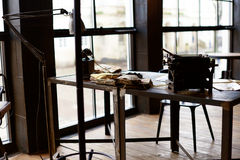 Desk in a old military office Stock Images