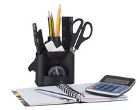 Desk Organizer With Office Tools Royalty Free Stock Images