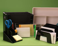Desk organizers Stock Photography