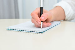 Desk pad and letter Royalty Free Stock Image