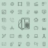desk phone icon. Detailed set of Media icons. Premium quality graphic design sign. One of the collection icons for websites, web d royalty free illustration