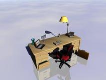 Desk reflecting. Royalty Free Stock Photo