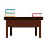 Desk school with books Stock Photos