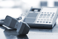 Desk telephone off hook Royalty Free Stock Image
