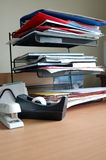 Desk top. Files on a desktop Royalty Free Stock Images