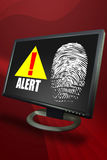 Desk top Security Alert Royalty Free Stock Photo