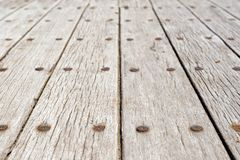 Desk of tree. Old boards of a deck of an old boat.Desk of tree Royalty Free Stock Image
