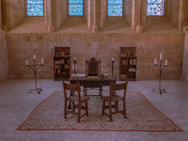 Desk of the XVI century II. Reconstruction of a typical Desk of the XVI century Stock Images