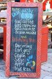 deska pije menu Zdjęcie Stock